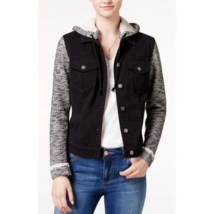 NWT Tinseltown Hooded Jean Jacket